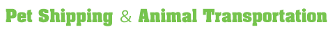 Pet Shipping & Animal Transportation